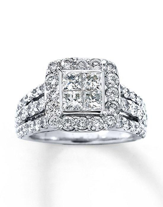 kay jewelers engagement ring in white gold with princess cut i style 80454515 i https - Kays Jewelry Wedding Rings