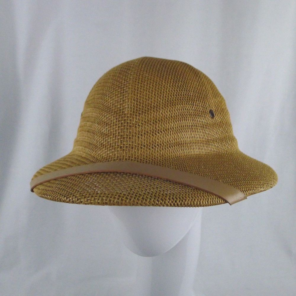 b26a4562 Woven Mesh Safari Hat By Wesco Pith Helmet Adjustable Head Band Sun Fair  USA #Wesco #PithHelmet