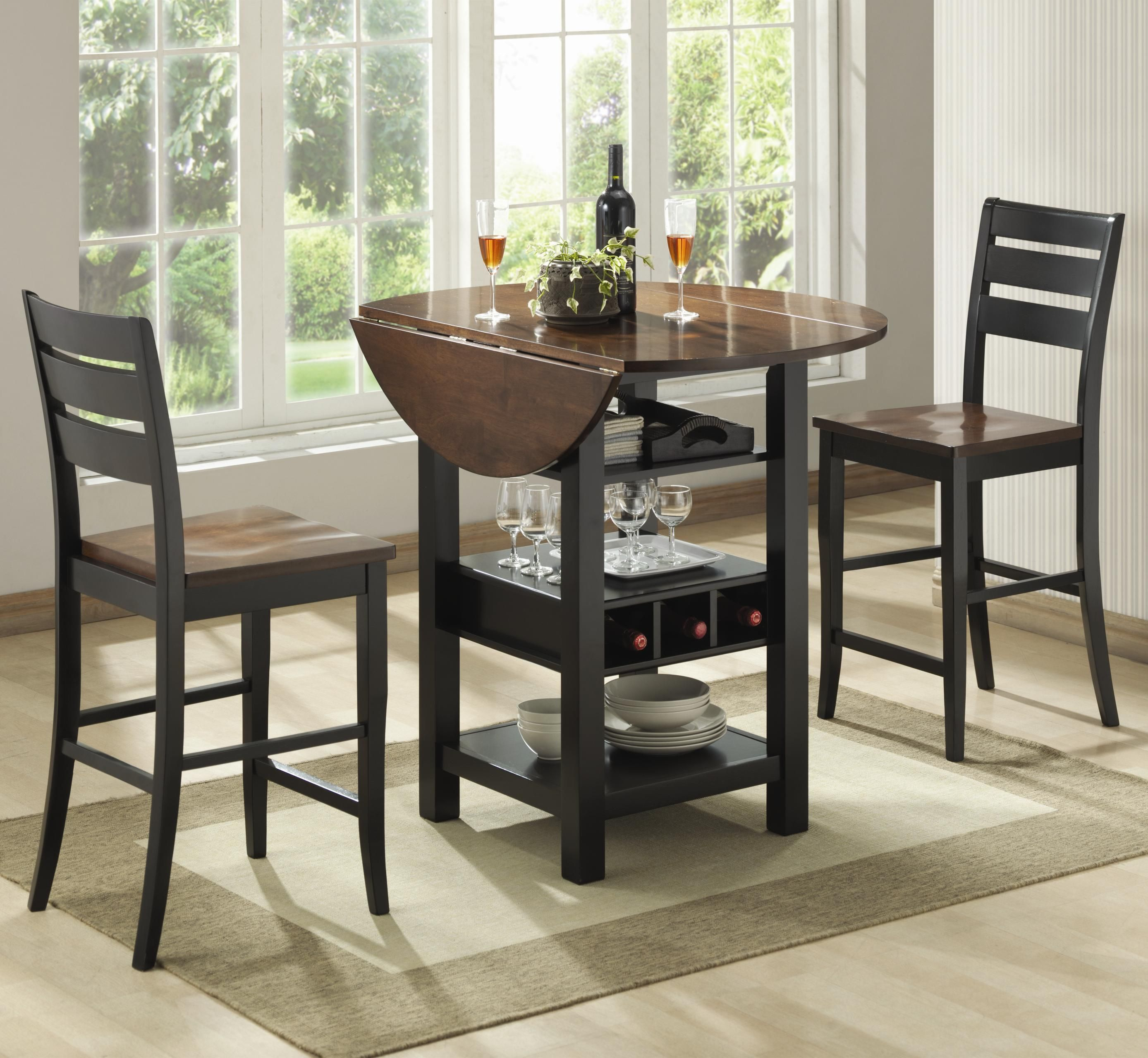 Pub Tables And Chairs 3 Piece Pub Table Set Pub Table And Chairs Counter Height Dining Table Black Round Dining Table