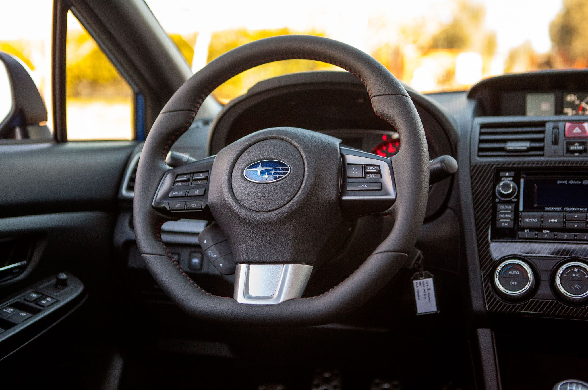 2015 Subaru WRX steering wheel 3 brown sport multifunction leather ...