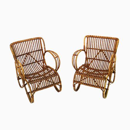 Rattan Stühle von Rohé Noordwolde, 2er Set Jetzt bestellen unter ...