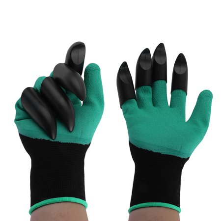 Protective Gloves Practical 2 Pairs Abs Plastic Claws Gardening