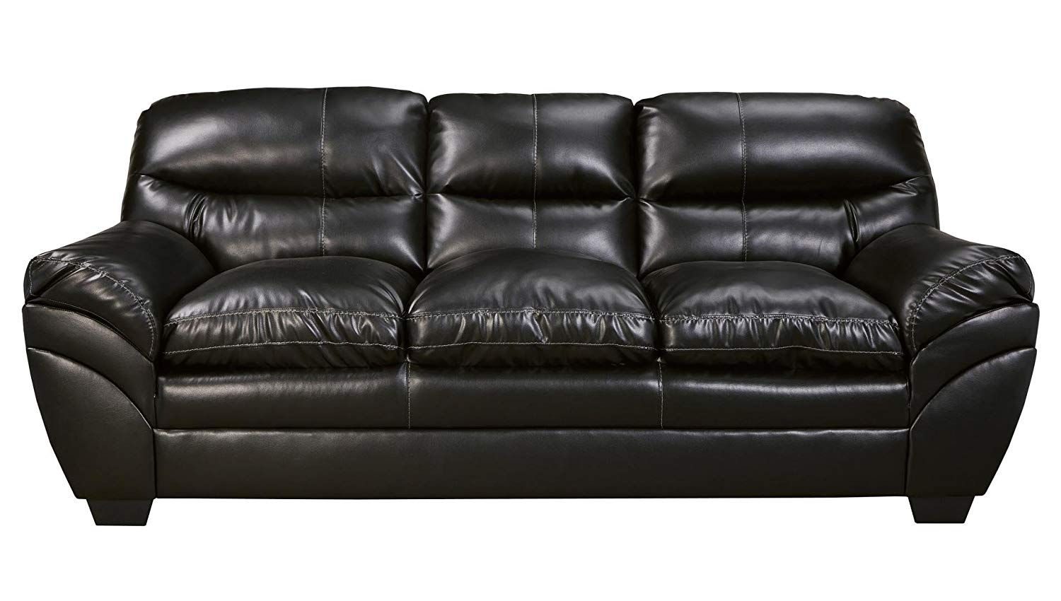 Ashley Tassler Durablend Leather Sofa In Black Very Kind Of You To Have Dropped By To View Our Picture Ashley Furniture Ashley Furniture Living Room Sofa