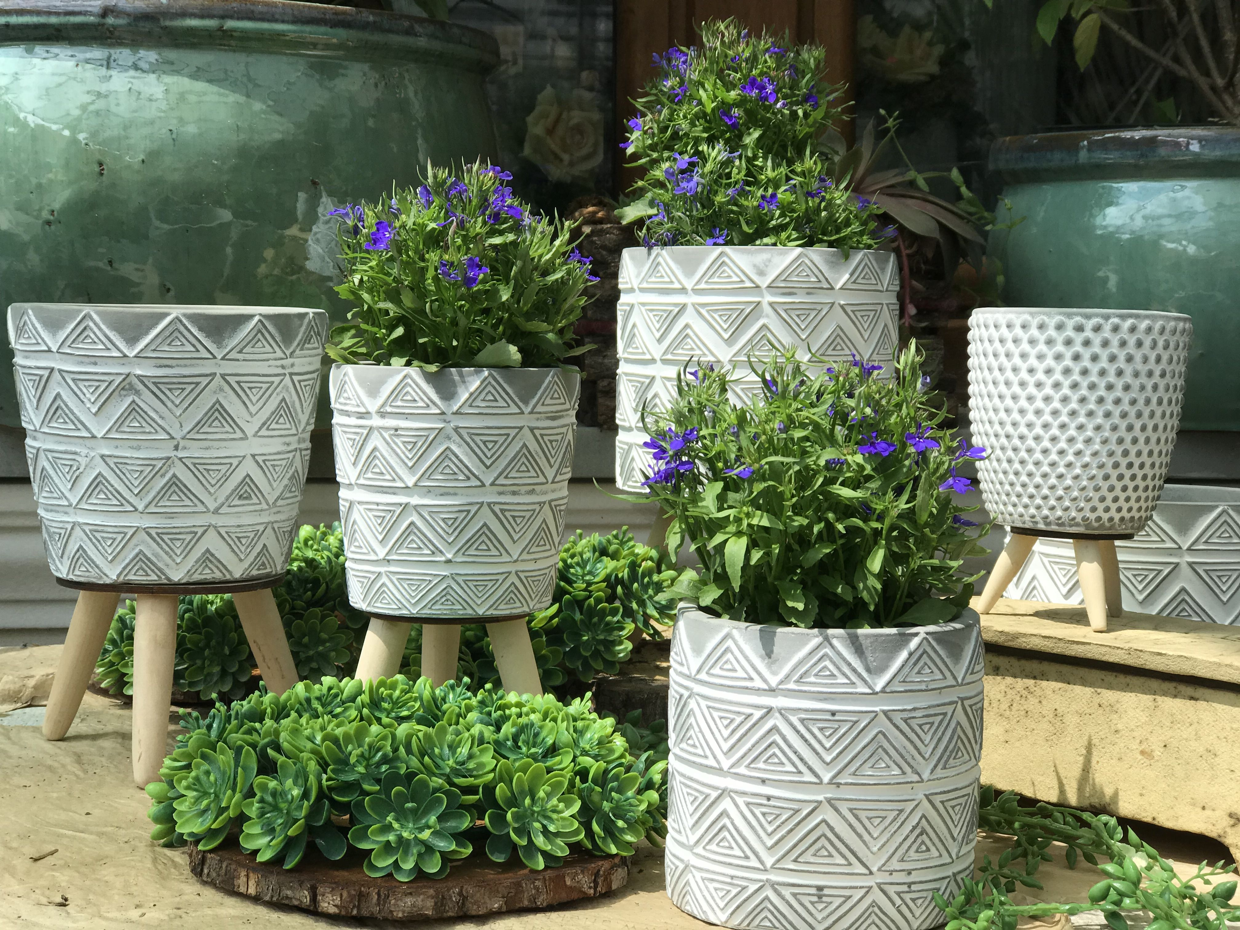 Oslonki Betonowe Planters Planter Pots Garden