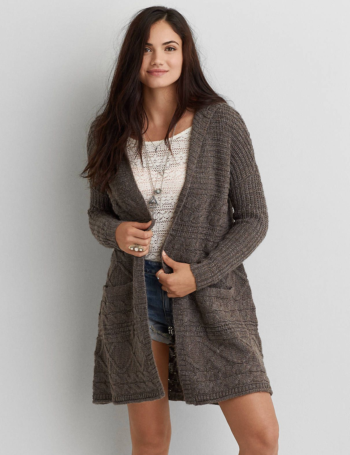 Long Cardigan | American Eagle | How to Wear: Long Cardigans ...