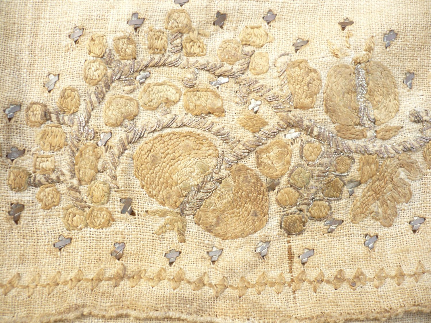 Anatolian antique handwoven tablewall decoration cover doily