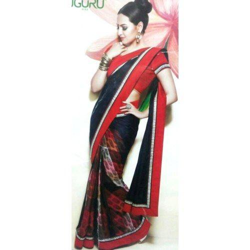 black designer half n half sarees