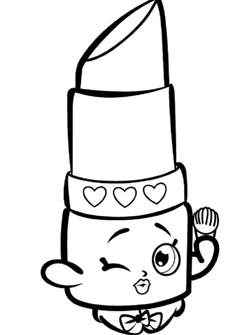 Lipstick And Nail Polish Pages Coloring Pages