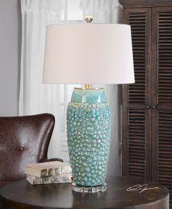 Beautiful coastal lamps beachfront decor coastal floor lamp 17b textured turquoise embossed coastal table lamp 247x300 the mozeypictures Images