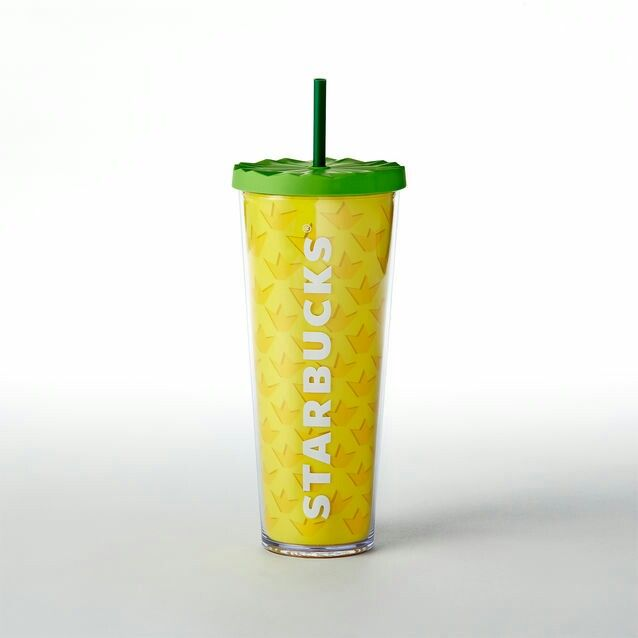 Starbucks Pineapple Cup Starbucks Cold Cup Pineapple Starbucks Cup Coffee Cup Tumbler Reusable Cup Iced Coffee Cup 24oz cup