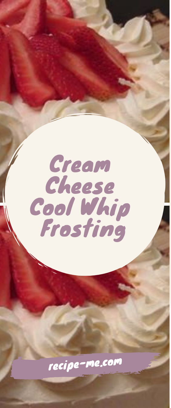Cream Cheese Cool Whip Frosting – Recipes Me