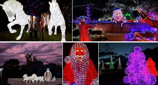 Garden Landscaping Spectacular Hunter Valley Christmas Lights Design Ideas With Horse And Santa Claus Figure Lighting Awesome Garden Lighting At Christmas D