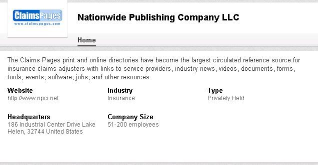 The Claims Pages Print And Online Directories Are The Largest