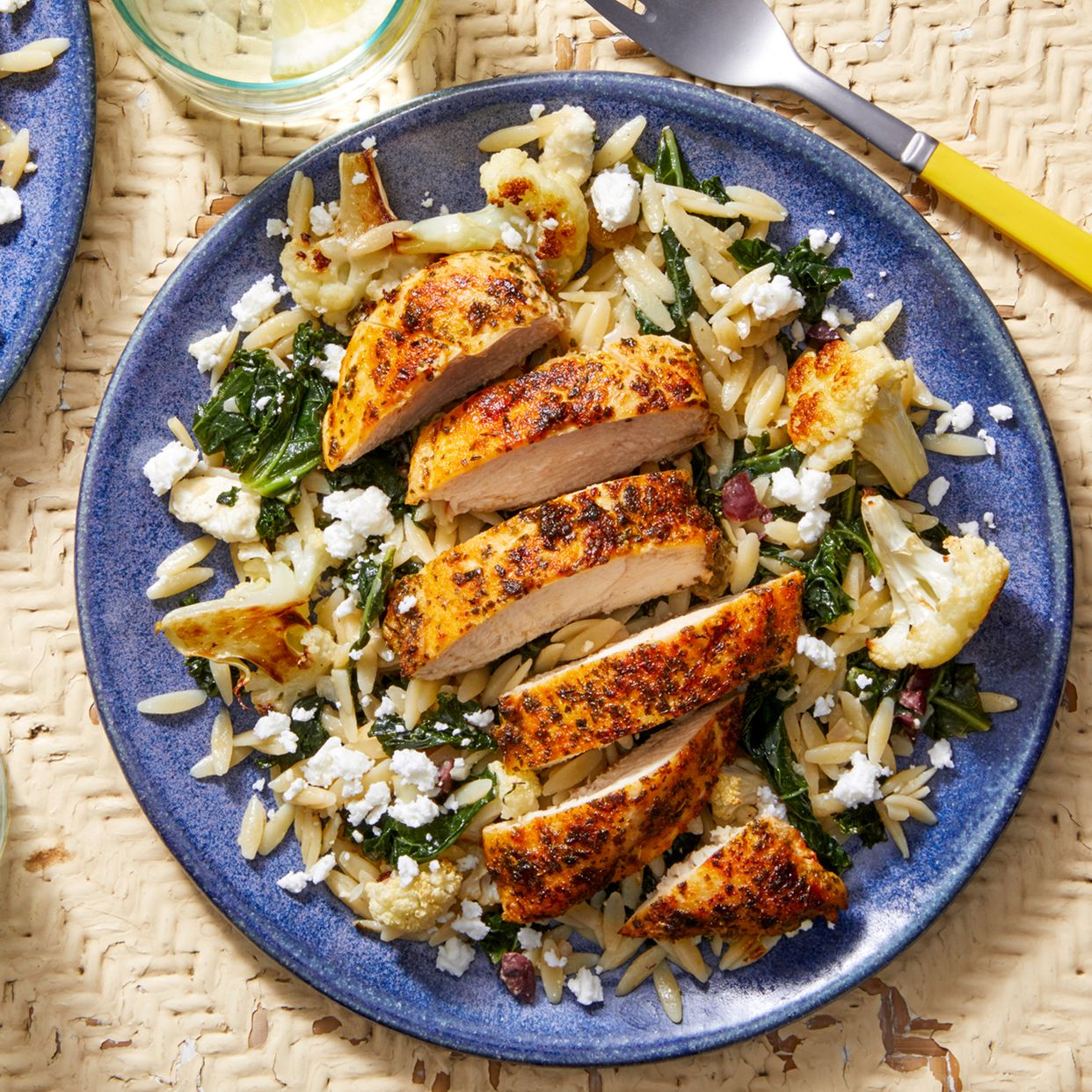 Seared Chicken & Orzo Salad With Roasted Cauliflower