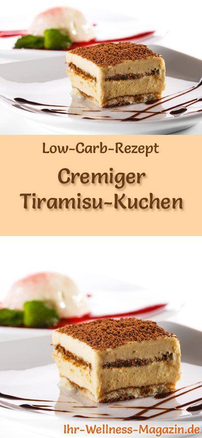 Cremiger Low Carb Tiramisu-Kuchen - Rezept ohne Zucker
