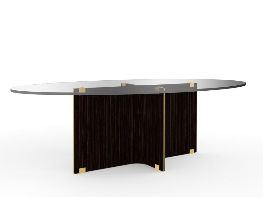 Maxime Oval Table By Marioni Design Studio 63 Oval Table Table Glass Dining Table