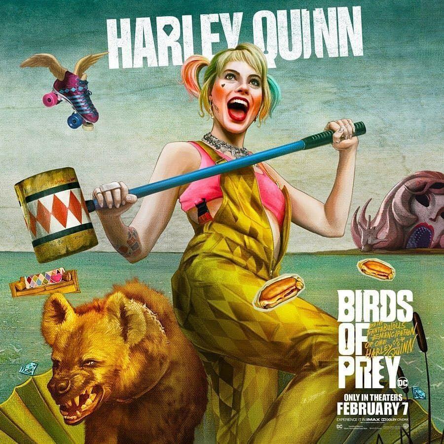 Deretan poster karakter dari film Birds of Prey. Trailer
