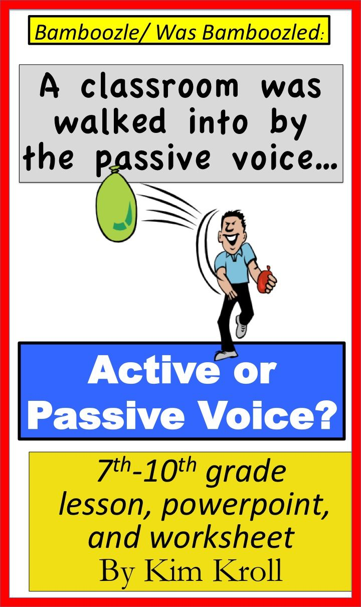 Active And Passive Voice Lesson Powerpoint And More Active And Passive Voice Lesson 8th Grade Ela