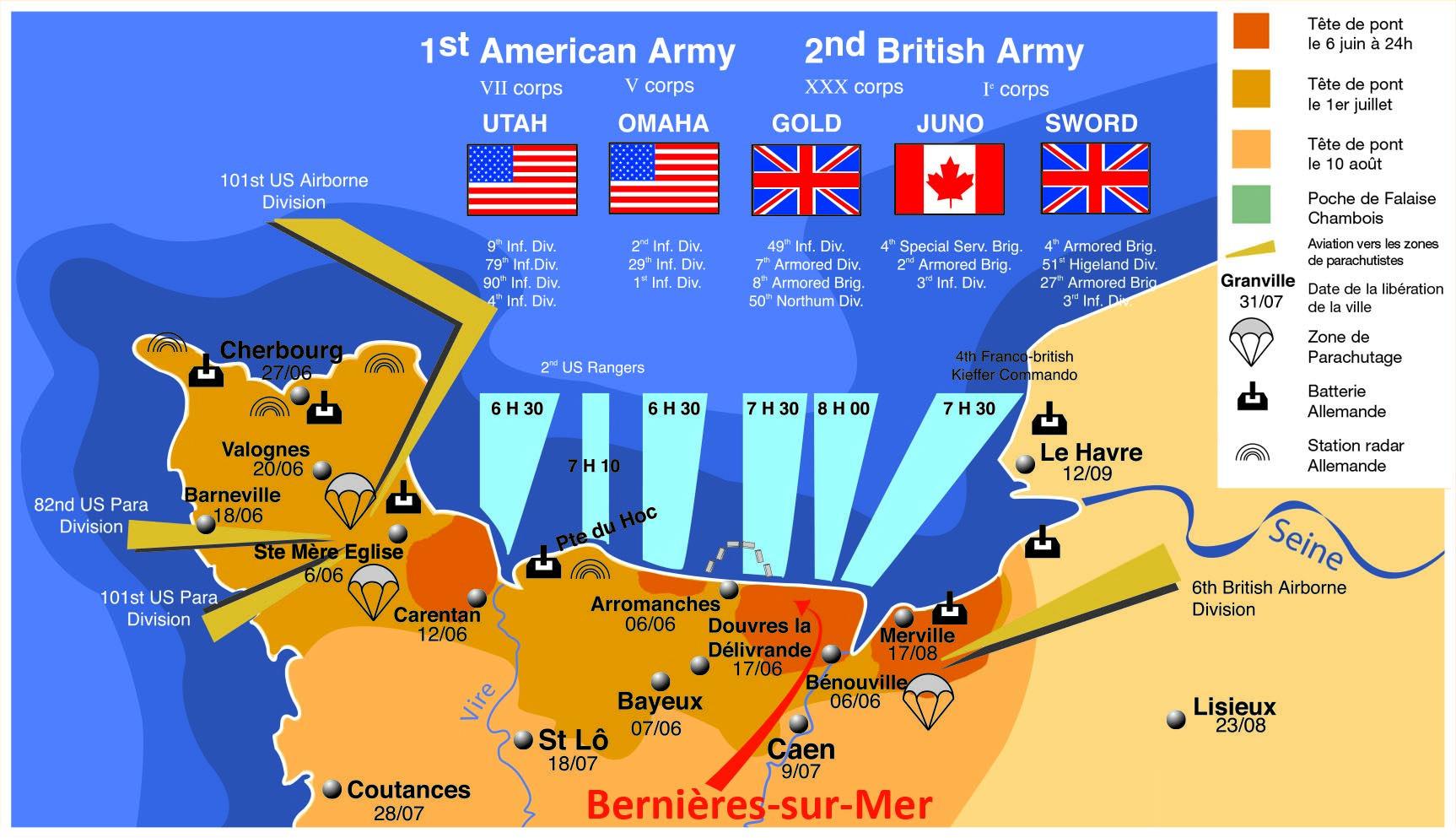 carte plages du débarquement carte plage debarquement. (1726×993) | Plage, Tourisme