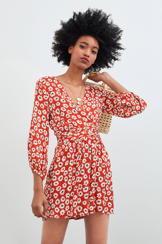 8e381c386c69 KURZES HOSENKLEID MIT MUSTER | Kleidung in 2019 | Jumpsuit dress ...