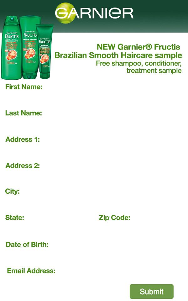 Free Garnier Fructis Brazilian Smooth Haircare Sample  I Love