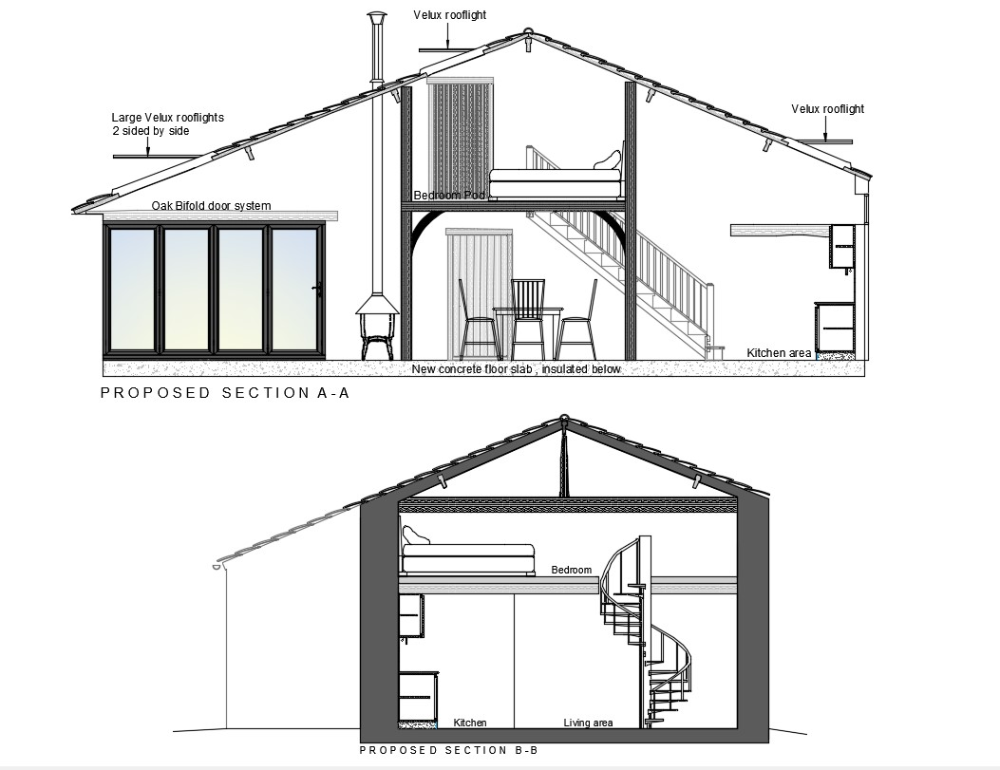 House Cross Section Drawing | Architectural section, Architecture model  making, Section drawing