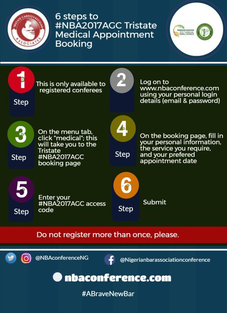 6 Steps to #NBA2017AGC Tristate Medical Appointment ...