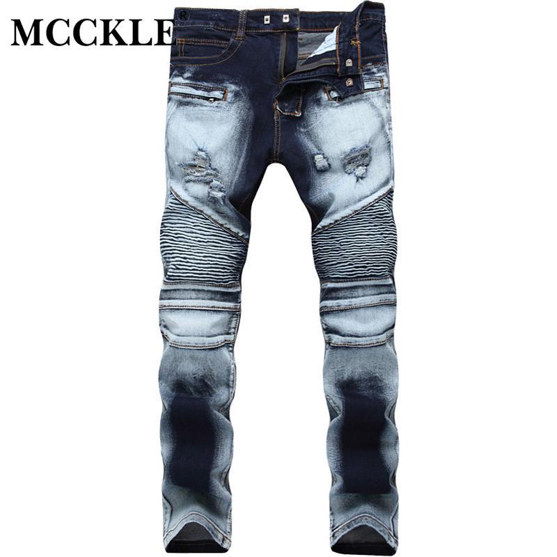 Hot sale Men/'s fashion Tattered patch jeans Zipper long jeans//Trousers Pants
