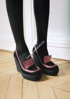 Other Stories Bordo Black Skora Koturn 270zl 6025834766 Oficjalne Archiwum Allegro Wedge Loafers Shoes Loafers