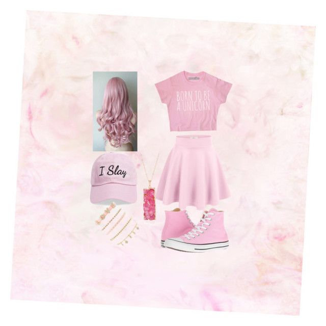 """""""Pretty in Pink💗"""" by jae-abernathy ❤ liked on Polyvore featuring Converse, Steve Madden and Charlotte Russe"""