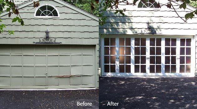 FAUX FRENCH GARAGE DOORS | garage door to french doors | FrenchPorte - Garage Door Makeover