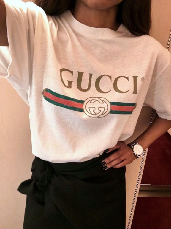 e381869587e2 WTC Women's Gucci Logo t-shirt : FashionReps | wear in 2019 ...