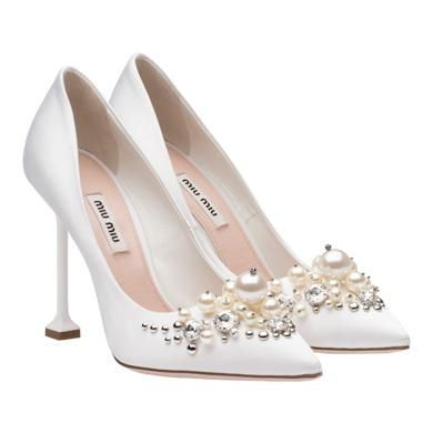 Miu Miu Women's jewelled heels stiletto fashion pumps shoes