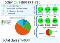 Insight! This is the comprehensive dashboard that you can customize to view all of your health club financials at a glance from anywhere!