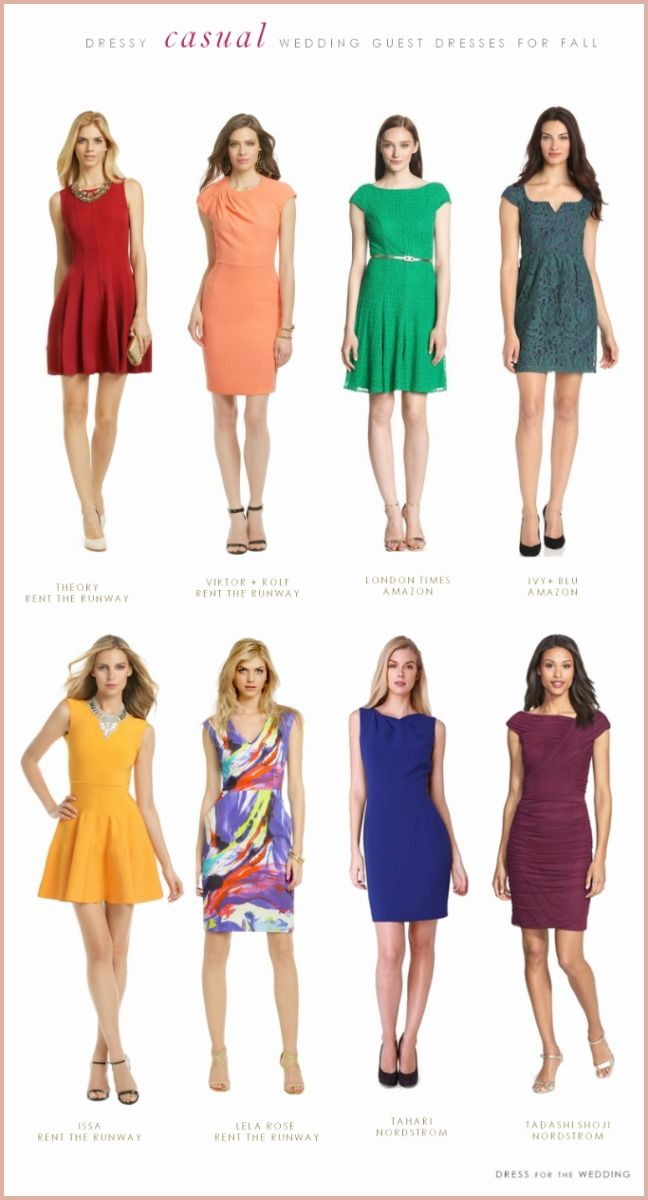 13 Exquisite Casual Dresses To Wear To A Wedding Dresses Casual Fall Dressy Casual Outfits Casual Wedding Attire
