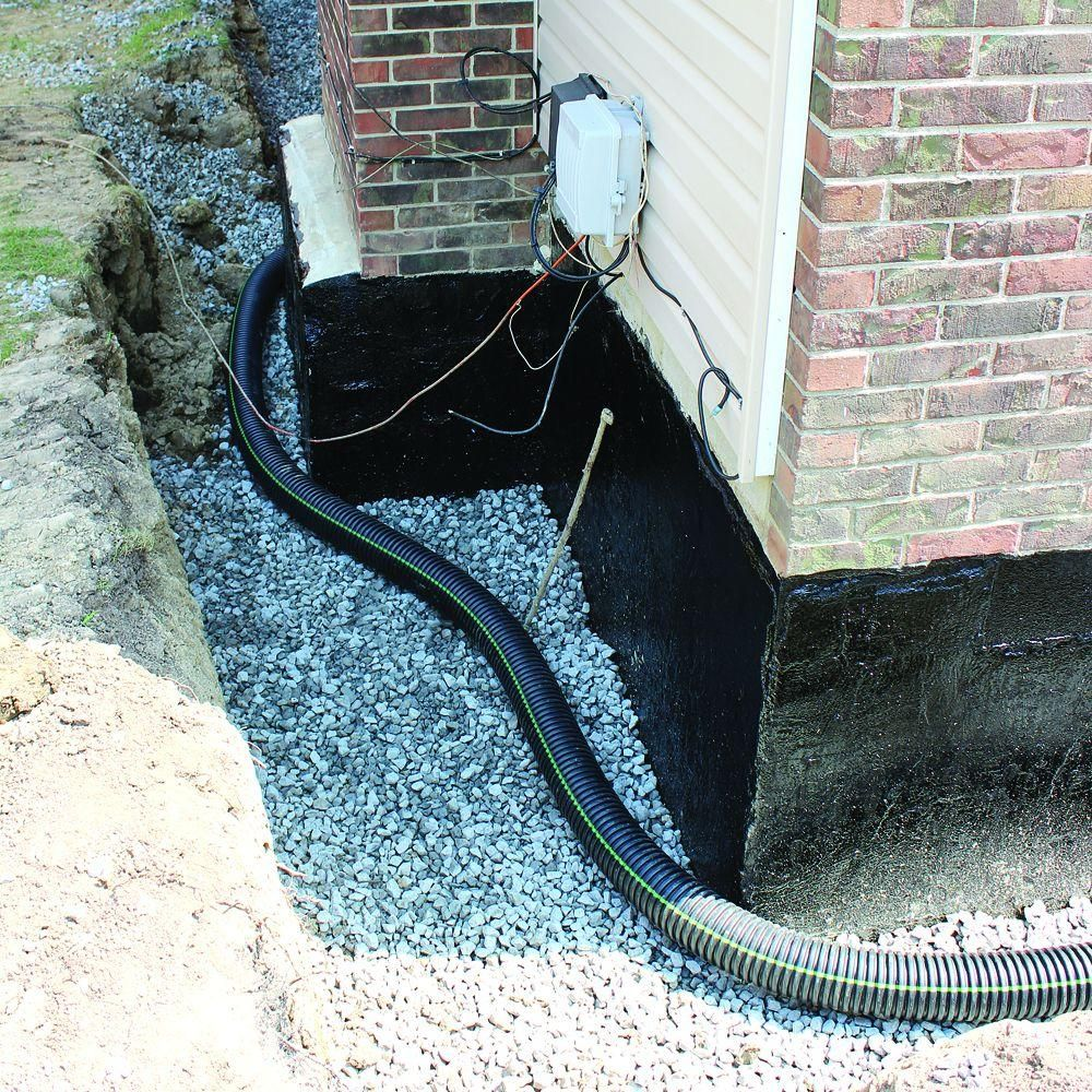 4 In. X 10 Ft. Corrugated HDPE Drain Pipe Solid With Bell