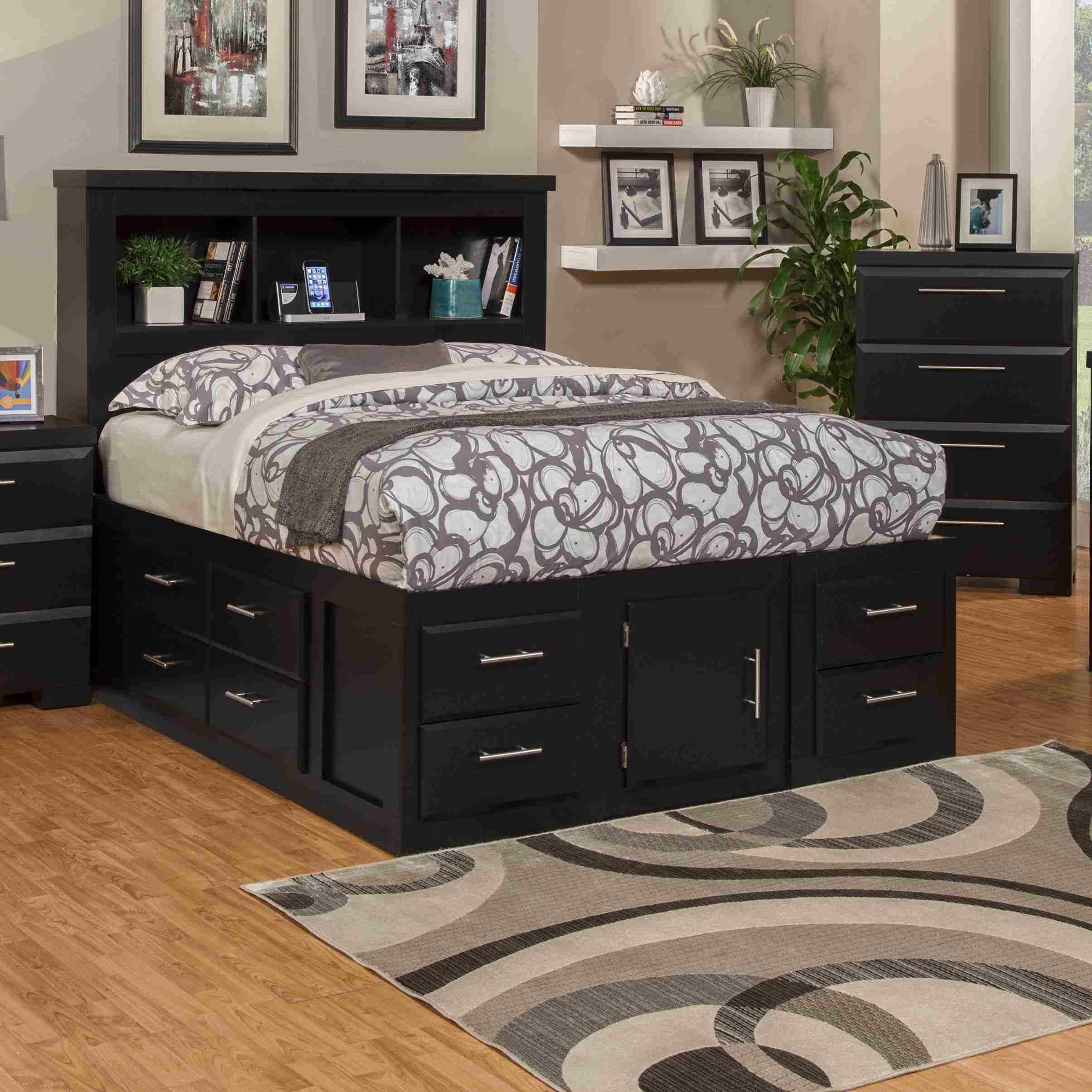 Platform Storage Bedroom Sets in 8  Bed with drawers, Wayfair