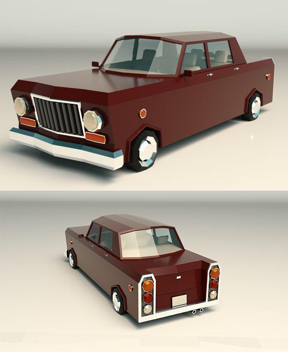 Low Poly Sedan Car 08. Fully editable and reusable 3D model of a car. #3D #3DModel #3DDesign #antique #ar #augmented #auto #automobile #berlina #berline #berlinetta #car #game #hardtop #hatchback #limousine #low #macchina #machine #mafia #old #poly #reality #retro #saloon #seda #sedan #stylized #vehicle #vintage #virtual #vr