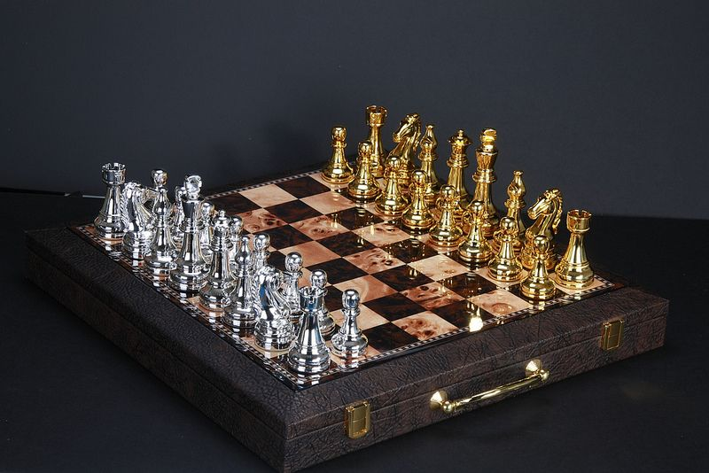 Chess Board (Gold & Silver) Bruce Tsao