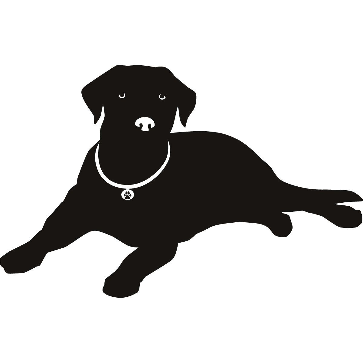 Labrador Nose Silhouette Dogs Wall Art Stickers Wall Decal Dog Silhouette Dog Wall Art Dog Art