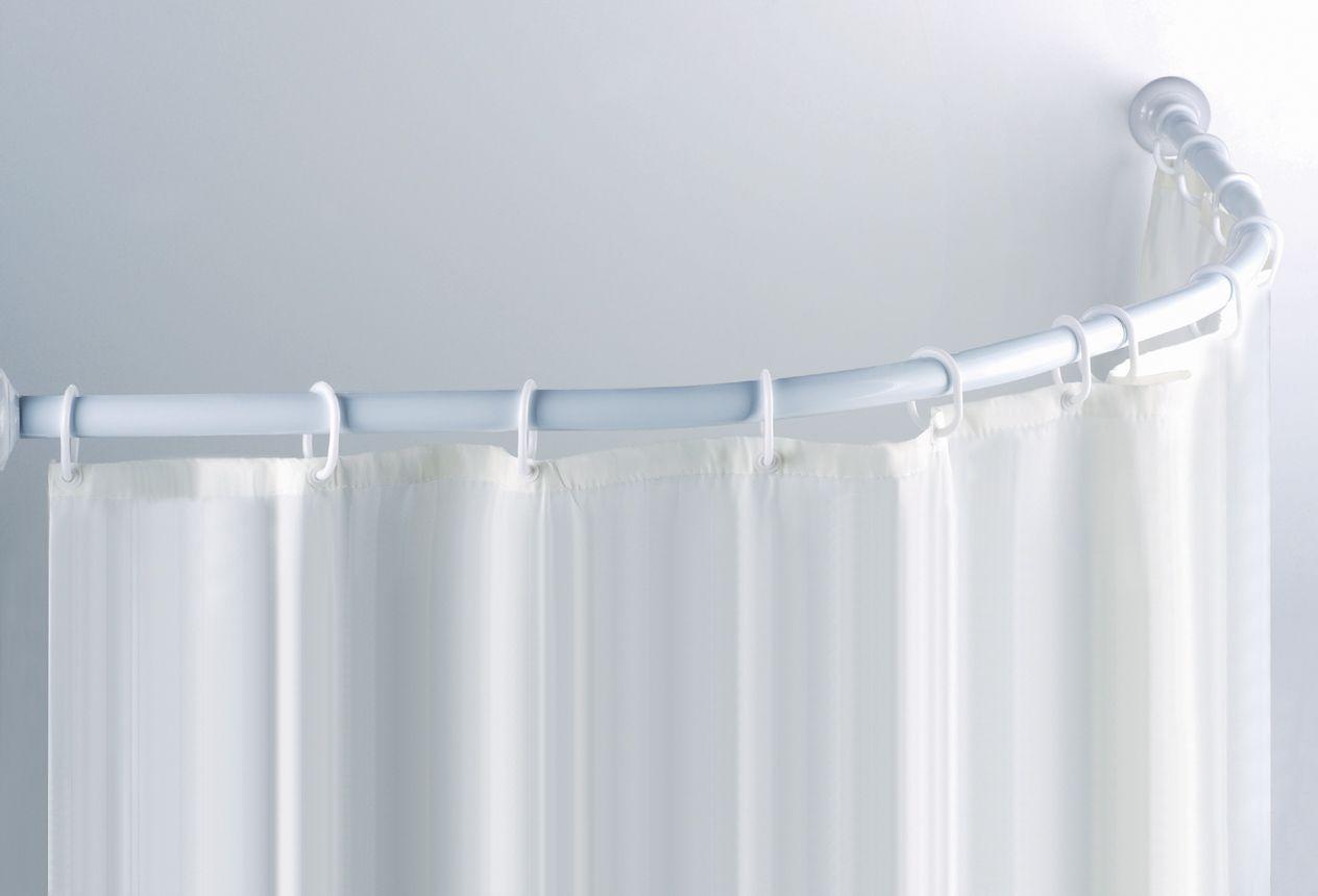 Pin By Brenda Hanes On Bathroom Ideas Round Shower Curtain Rod