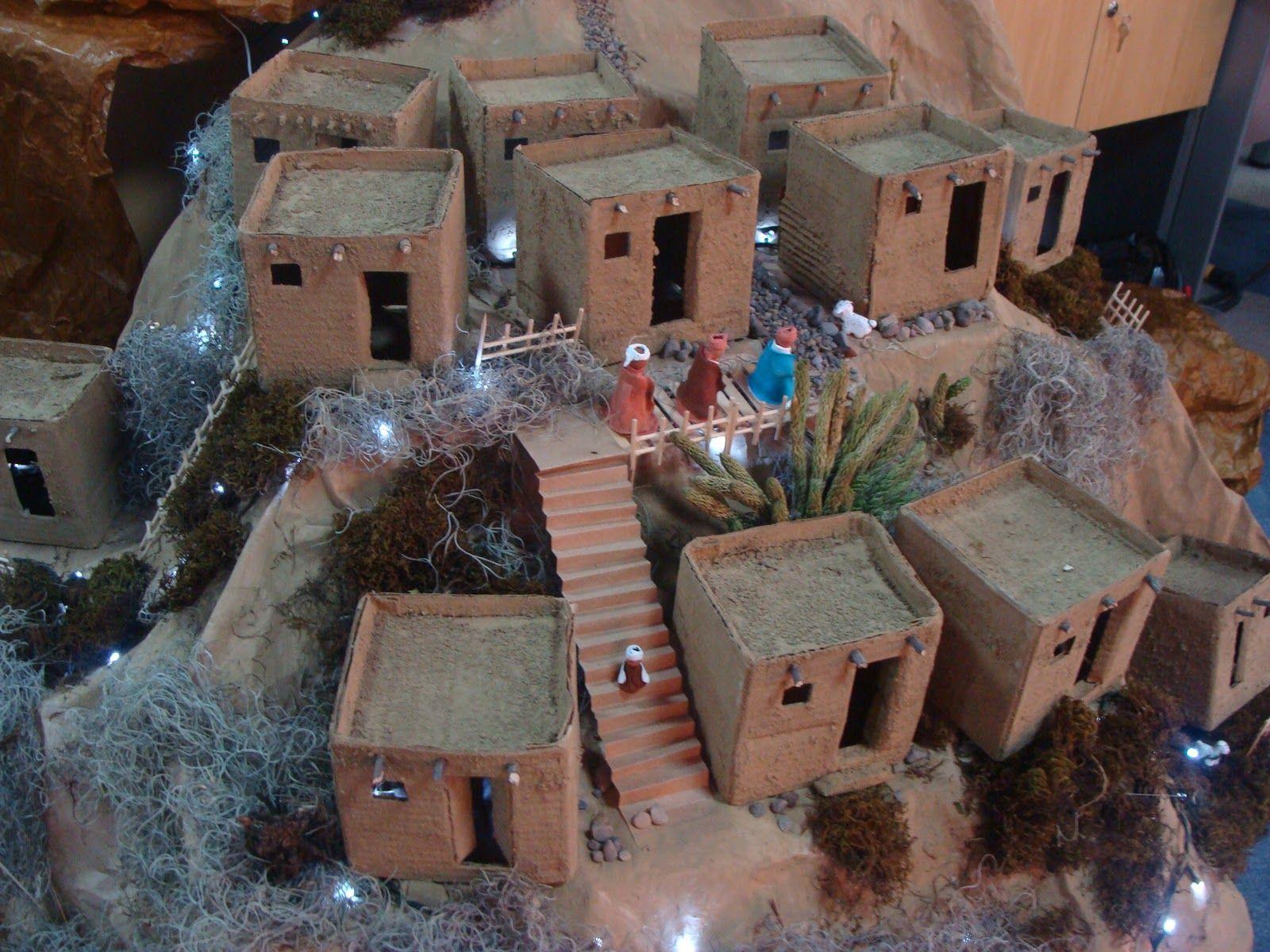 Resultado de imagen para casas para el pesebre con palos