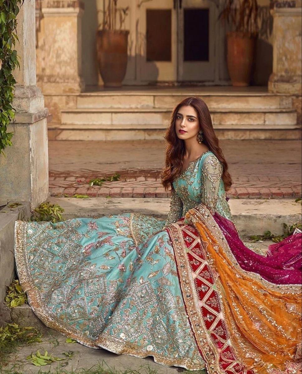 "Maya Ali Poses for ""Ghar Nari"" Bridal Collection – The Odd Onee #indiandesignerwear"