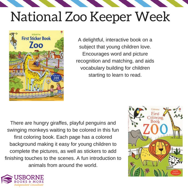 National Zoo Keeper Week Fun Coloring And Sticker Zoo Books Kids Will Love Interactive Book Usborne Books Zoo Book