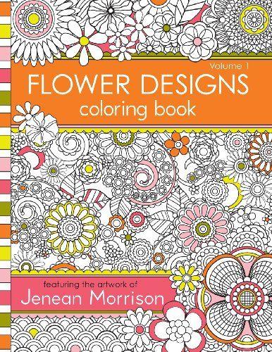 Flower Designs Coloring Book Volume 1