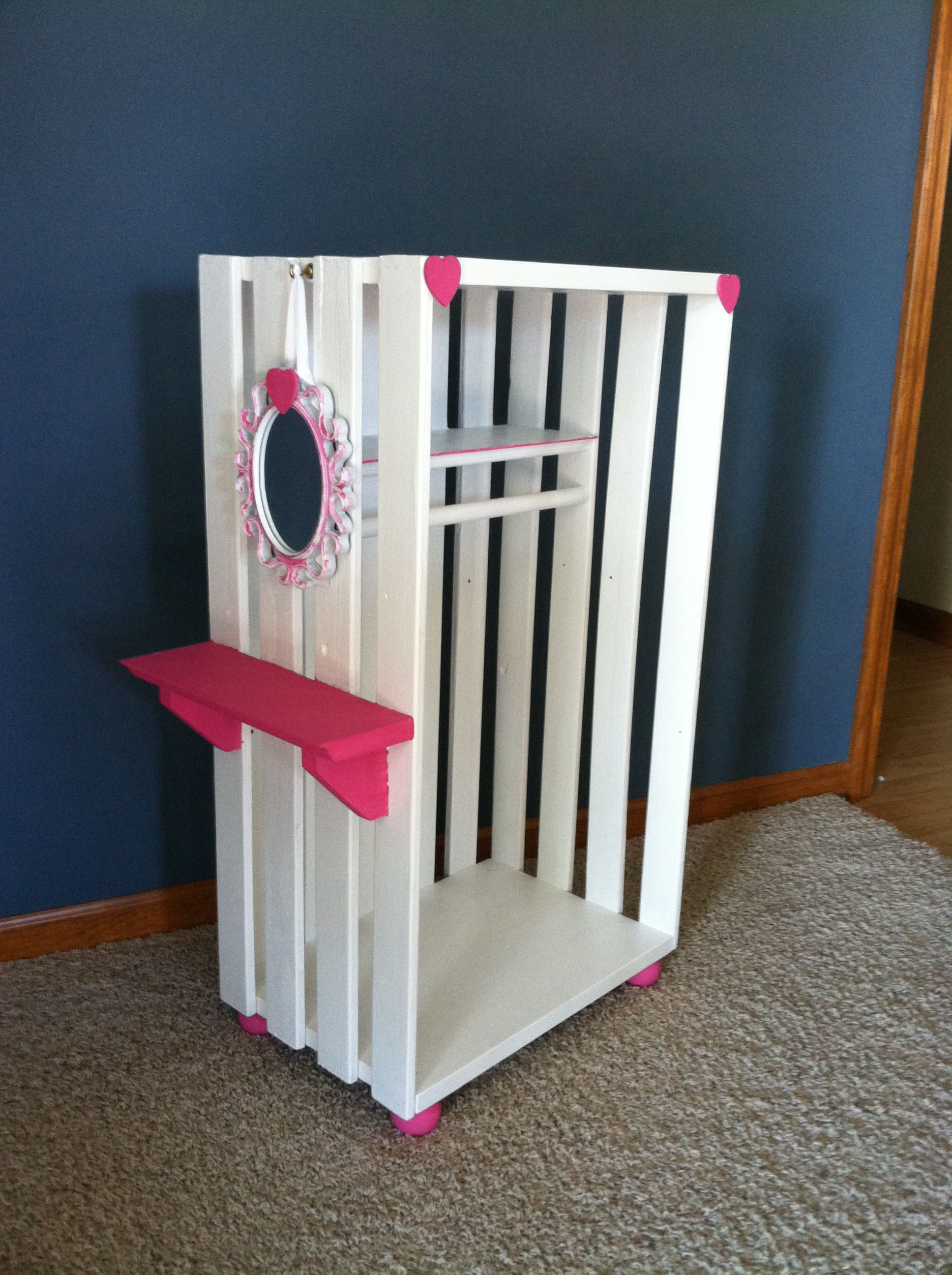 """18"""" doll wardrobe Simple to make For Em s Room"""