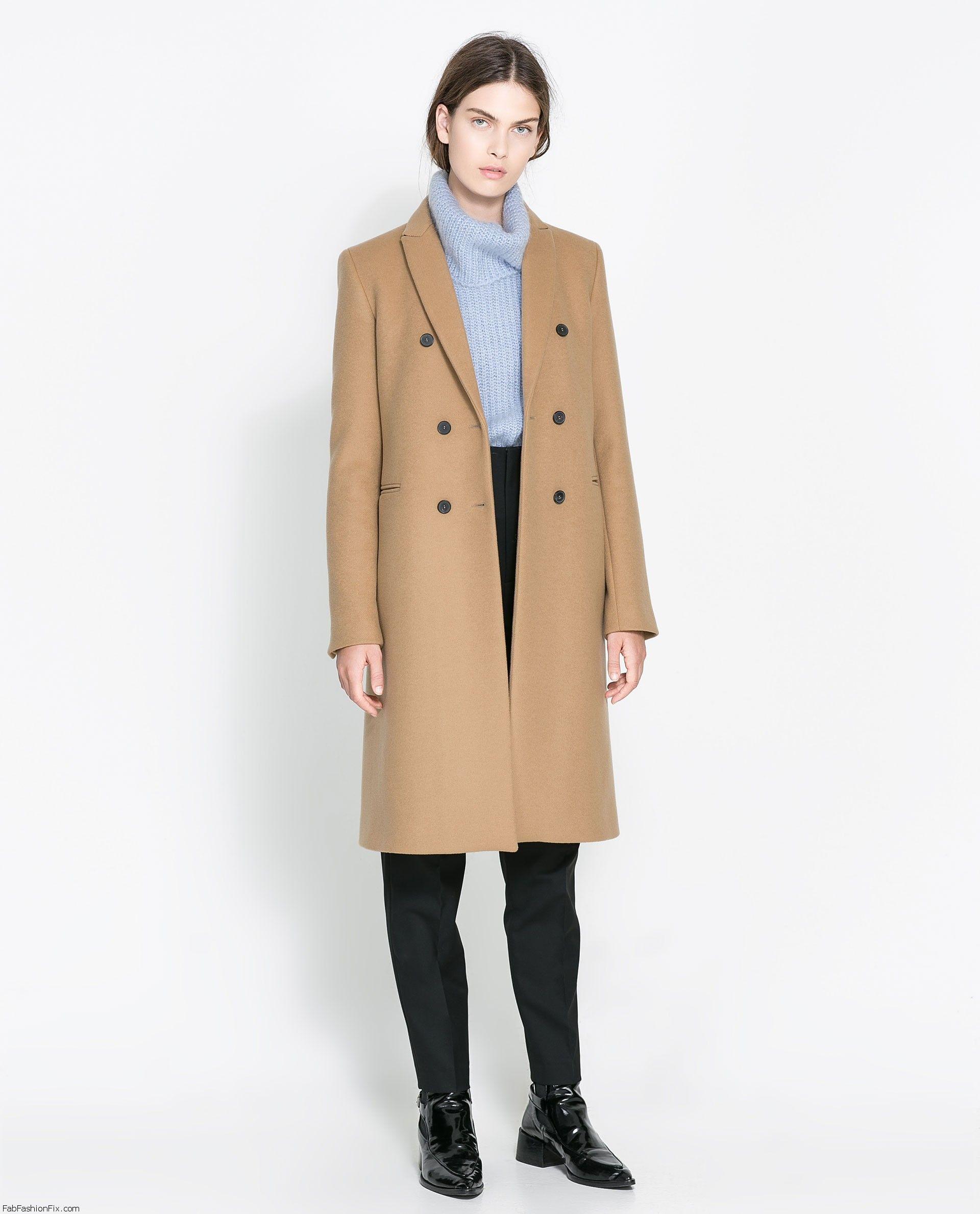Zara Coats Jackets For Fall Winter 2013 Fab Fashion Fix Zara Coat Coat Double Breasted Coat [ 2379 x 1920 Pixel ]