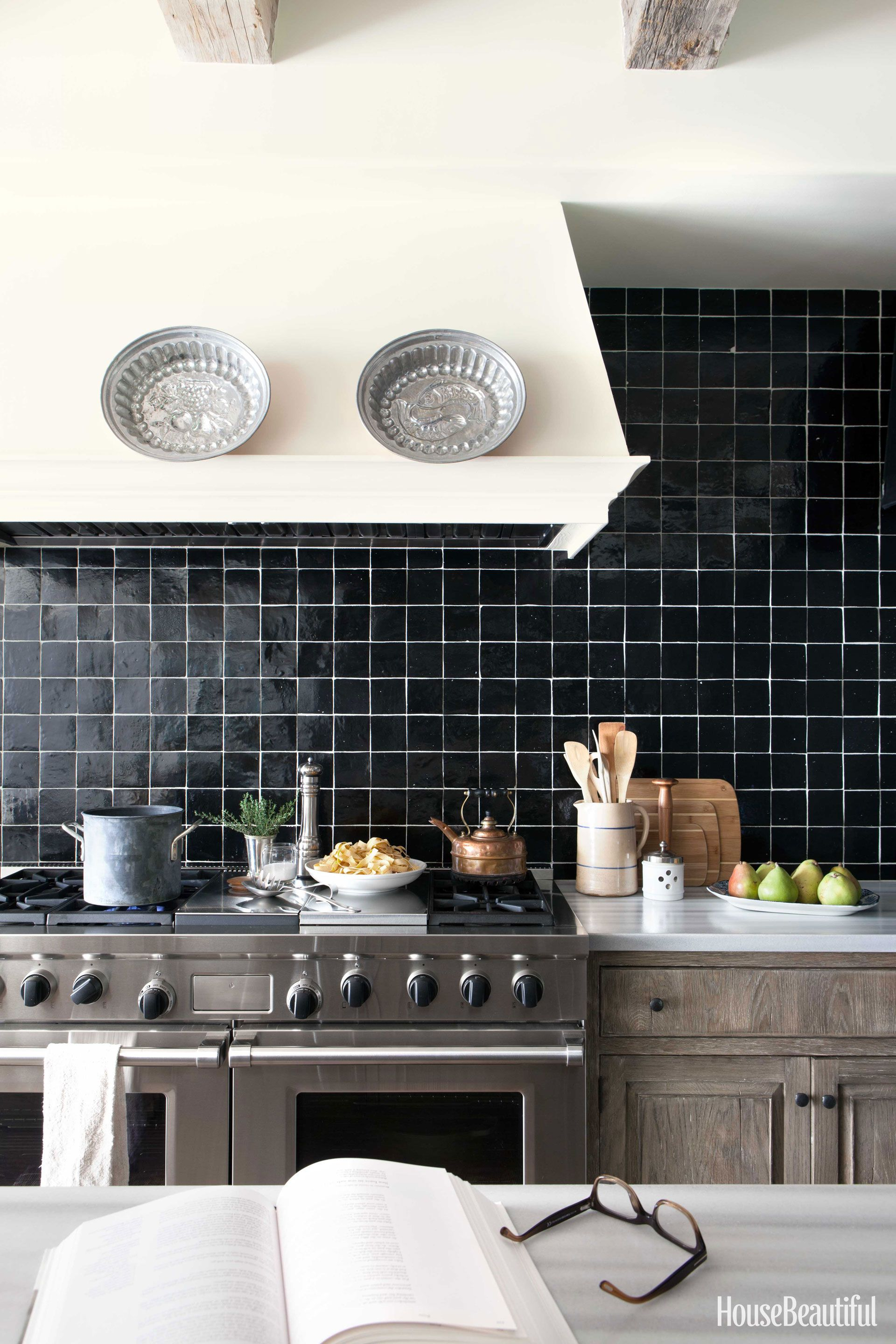 How To Decorate With Black And White Kitchen Tiles Design Black