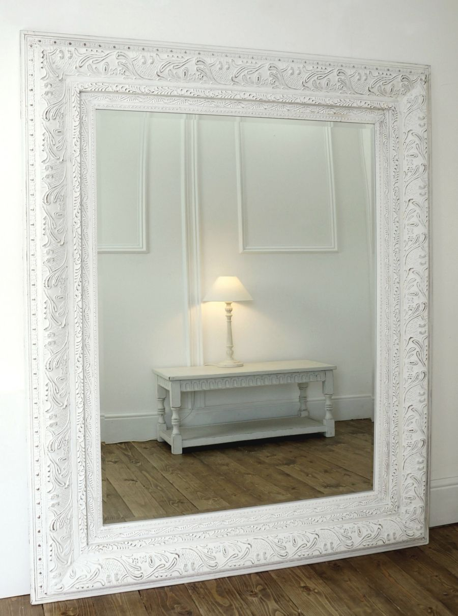 Wilko baroque mirror silver 87x62cm - Tatton 64 X 52 White William Wood Designs Mirrors And