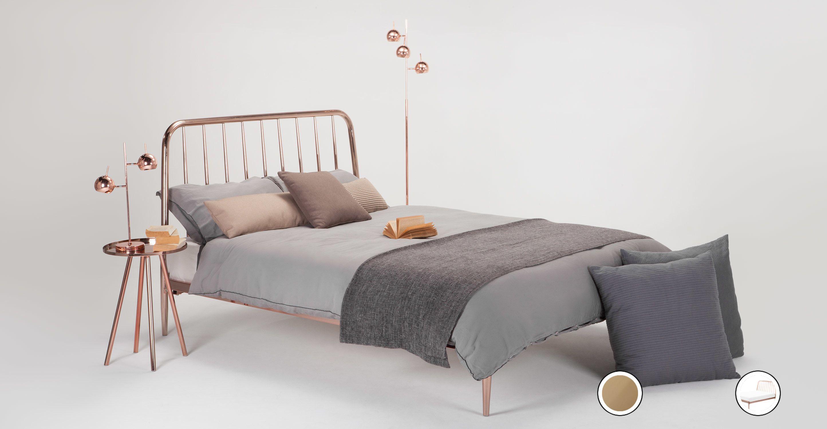 Alana Super Kingsize Bed Copper Products Pinterest Bett